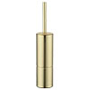 Arezzo Brushed Brass Toilet Brush + Holder profile small image view 1