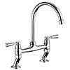 Rangemaster Traditional Belfast Bridge Kitchen Mixer Tap - Chrome profile small image view 1