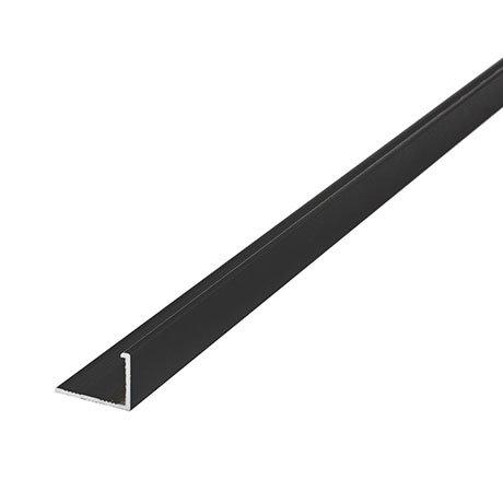 Tile Rite 10mm Textured Black L-Shape Metal Tile Trim