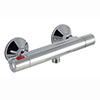 Cool Touch Minimalist Thermostatic Shower Bar Valve profile small image view 1