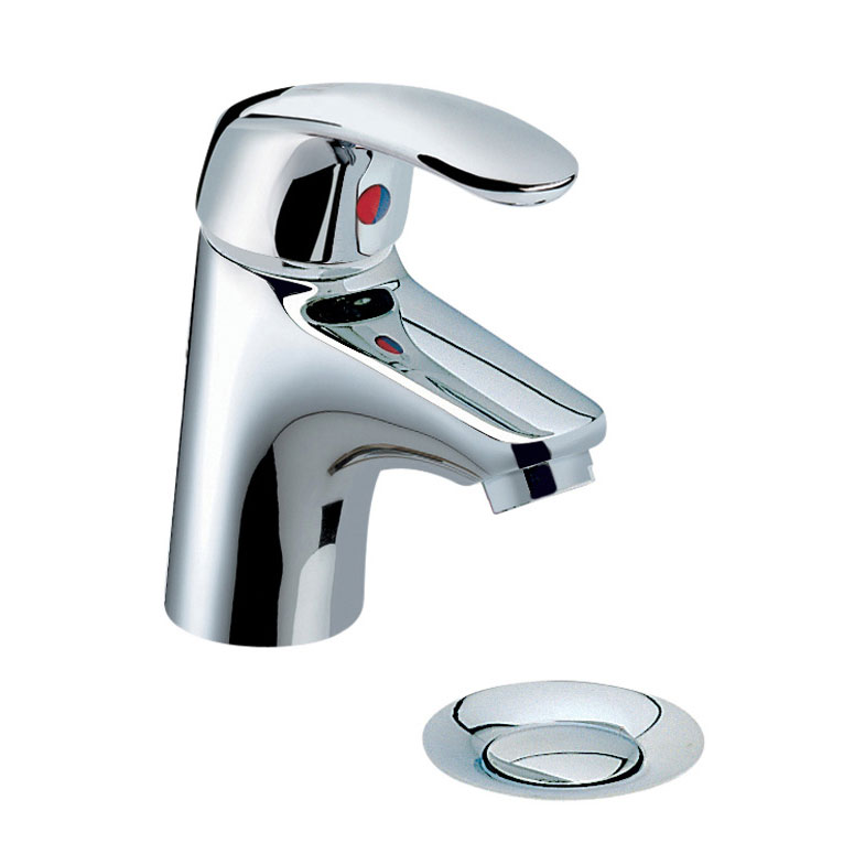 Heritage - Caprieze Mini Mono Basin Mixer with Pop-up Waste - TCSC04 Large Image