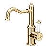 Trafalgar Traditional Gold Mono Basin Mixer Tap profile small image view 1
