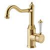 Trafalgar Traditional Brushed Gold Mono Basin Mixer Tap profile small image view 1