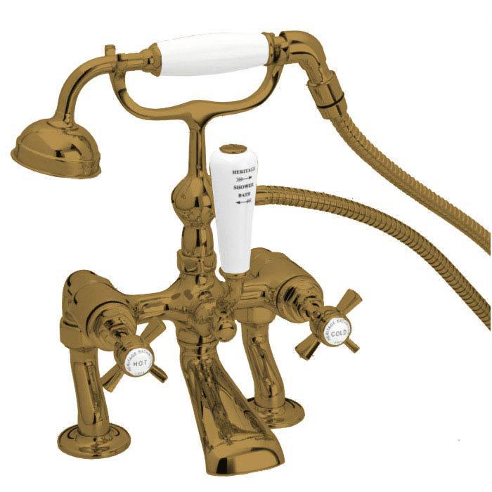 Heritage - Dawlish Bath Shower Mixer - Bronze - TDCBR02 Large Image