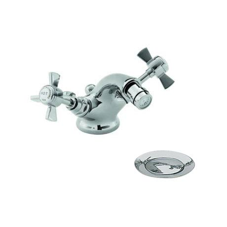 Heritage - Dawlish Bidet Mixer with Pop-up Waste - Chrome - TDCC05 Large Image