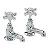 Heritage - Dawlish Short Nose Basin Pillar Taps - Chrome - TDCCS00 profile small image view 1