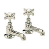 Heritage - Dawlish Basin Pillar Taps - Vintage Gold - TDCG00 profile small image view 1