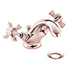 Heritage Dawlish Basin Mixer Tap with Pop-up Waste - Rose Gold - TDCRG04 profile small image view 1