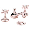 Heritage Dawlish 3TH Basin Mixer with Pop-up Waste - Rose Gold - TDCRG06 profile small image view 1