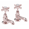 Heritage Dawlish Short Nose Basin Taps - Rose Gold - TDCRGS00 profile small image view 1