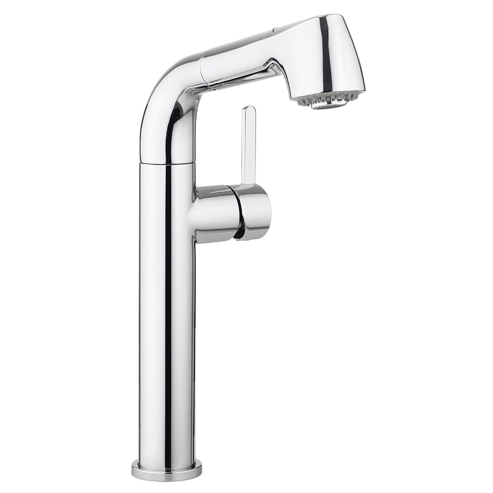 Crosswater - Cucina Tempo Side Lever Kitchen Mixer with Pull Out Spray - Chrome - TE718DC Large Image