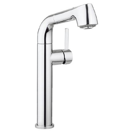Crosswater - Cucina Tempo Side Lever Kitchen Mixer with Pull Out Spray - Chrome - TE718DC