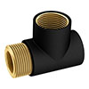 Anthracite T-Piece for Dual Fuel profile small image view 1