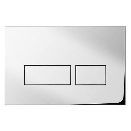 Bauhaus Tempo Chrome Dual Flush Plate - TEFLUSHC