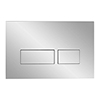 Crosswater MPRO Chrome Dual Flush Plate - TEFLUSHC+ profile small image view 1