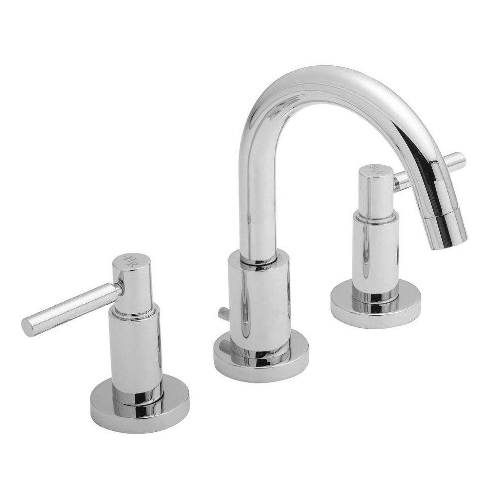 Hudson Reed - Tec Lever 3 Tap Hole Basin Mixer with swivel spout & pop up waste - TEL337 Large Image