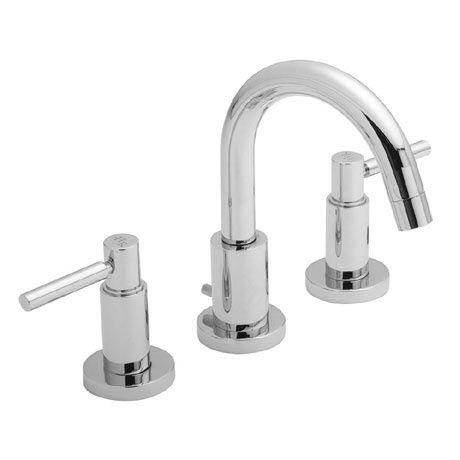 Hudson Reed - Tec Lever 3 Tap Hole Basin Mixer with swivel spout & pop up waste - TEL337