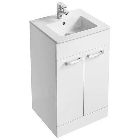 Ideal Standard Tempo 500mm Gloss White Vanity Unit - Floor Standing 2 Door Unit