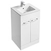 Ideal Standard Tempo 500mm Gloss White Vanity Unit - Floor Standing 2 Door Unit profile small image view 1