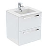 Ideal Standard Tempo 600mm Gloss White 2 Drawer Wall Hung Vanity Unit profile small image view 1