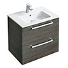 Ideal Standard Tempo 600mm Sandy Grey 2 Drawer Wall Hung Vanity Unit profile small image view 1