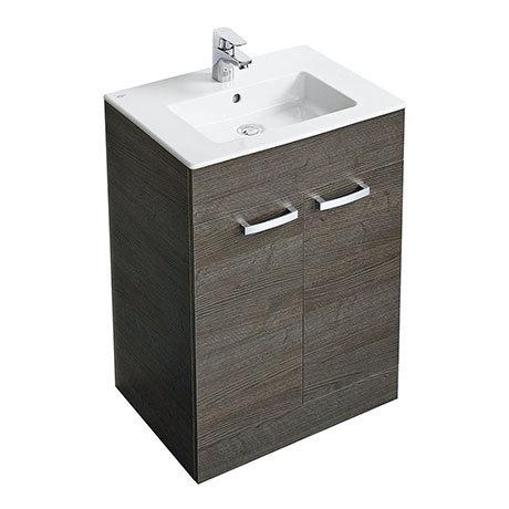 Ideal Standard Tempo 600mm Sandy Grey Vanity Unit - Floor Standing 2 Door Unit