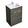 Ideal Standard Tempo 600mm Sandy Grey Vanity Unit - Floor Standing 2 Door Unit profile small image view 1