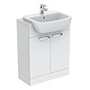Ideal Standard Tempo 650mm Gloss White Vanity Unit - Floor Standing 2 Door Unit profile small image view 1
