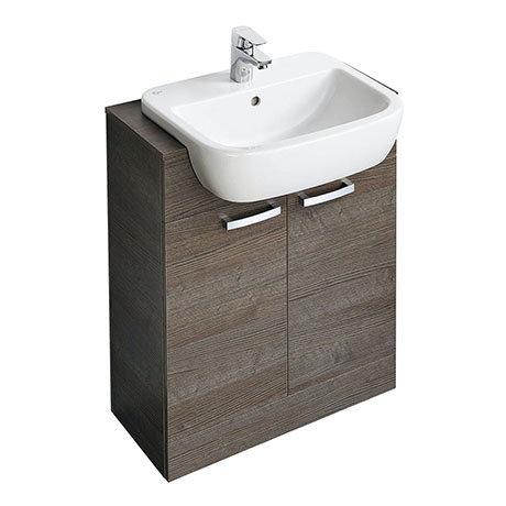 Ideal Standard Tempo 650mm Sandy Grey Vanity Unit - Floor Standing 2 Door Unit