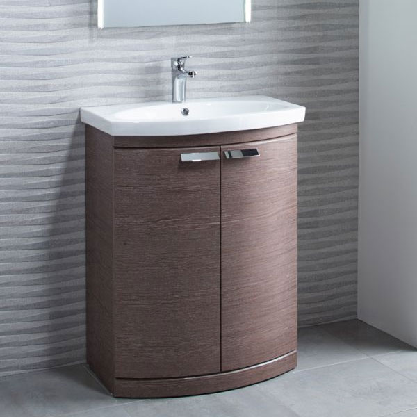 Tavistock Tempo 650mm Freestanding Unit & Basin - Dark Java Profile Large Image