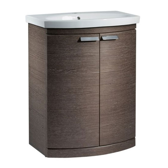 Tavistock Tempo 650mm Freestanding Unit & Basin - Dark Java Large Image