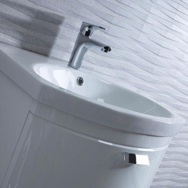 Tavistock Tempo 650mm Wall Mounted Unit & Basin - Gloss White profile large image view 3