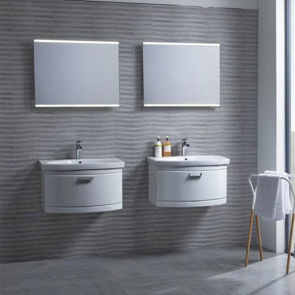 Tavistock Tempo 650mm Wall Mounted Unit & Basin - Gloss White profile large image view 4