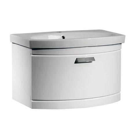 Tavistock Tempo 650mm Wall Mounted Unit & Basin - Gloss White