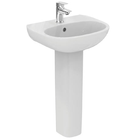Ideal Standard Tesi 45cm 1TH Handrinse Washbasin & Pedestal