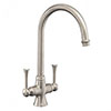 Rangemaster Estuary Brushed Nickel Dual Lever Kitchen Tap - TES1BF profile small image view 1