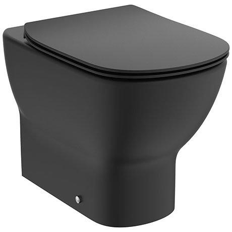 Ideal Standard Tesi Silk Black AquaBlade Back to Wall WC + Soft Close Seat