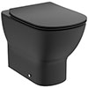 Ideal Standard Tesi Silk Black AquaBlade Back to Wall WC + Soft Close Seat profile small image view 1
