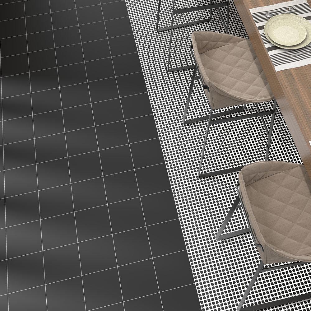 Tetra Matt Black Wall and Floor Tiles - 200 x 200mm