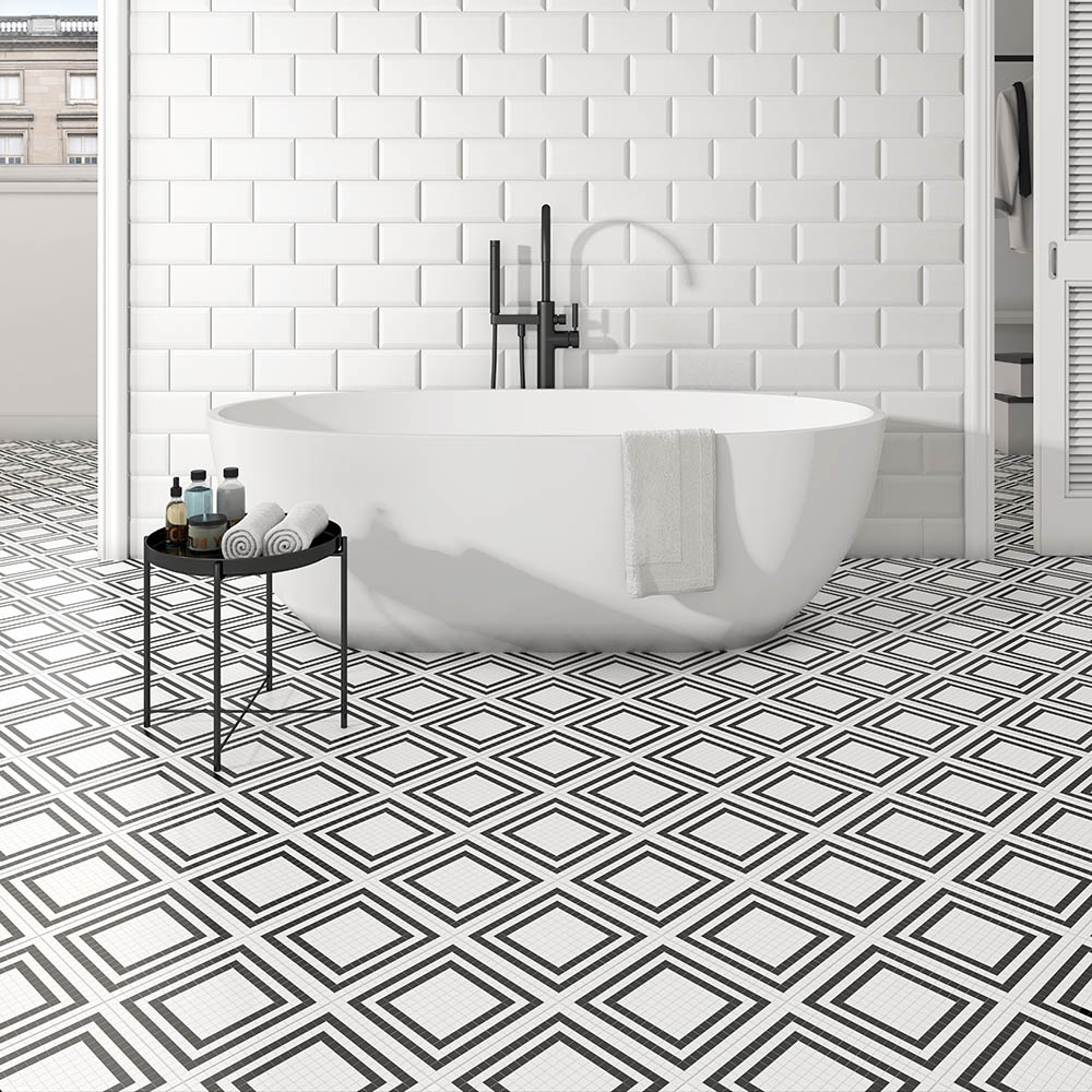 Tetra Grid Wall and Floor Tiles - 200 x 200mm