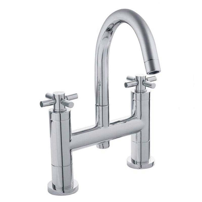 Hudson Reed - Tec Crosshead Bath Filler with swivel spout - TEX353 Large Image