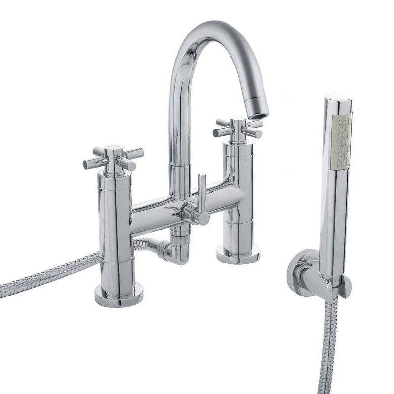 Hudson Reed - Tec Crosshead Bath Shower Mixer with shower kit & wall bracket - TEX354 Large Image