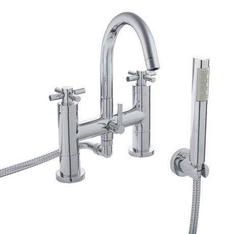 Hudson Reed - Tec Crosshead Bath Shower Mixer with shower kit & wall bracket - TEX354
