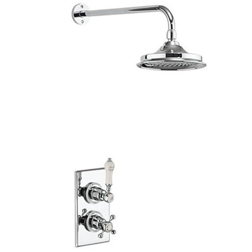 Burlington Medici Trent Thermostatic Concealed Single Outlet Shower Valve with Fixed Head