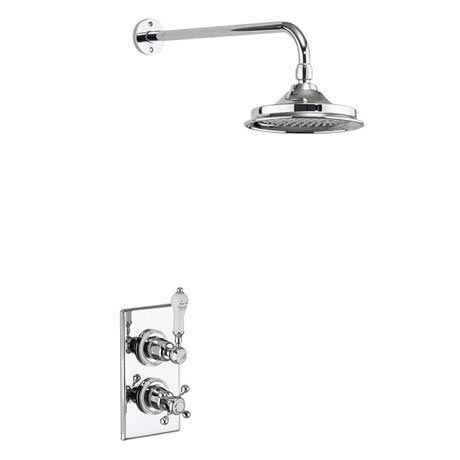 Burlington Trent Thermostatic Concealed Single Outlet Shower Valve with Fixed Head