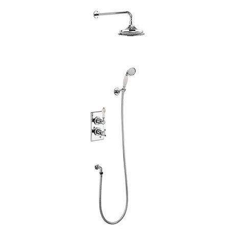 Burlington Medici Trent Thermostatic Concealed Two Outlet Diverter Shower Valve, Hose & Handset with