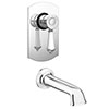 Trafalgar Traditional Concealed Manual Valve with Bath Spout profile small image view 1