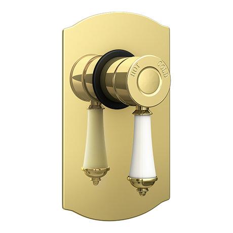 Trafalgar Traditional Gold Concealed Manual Shower Valve