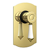 Trafalgar Traditional Gold Concealed Manual Shower Valve profile small image view 1