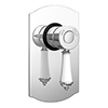 Trafalgar Traditional Chrome Concealed Manual Shower Valve profile small image view 1